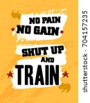gym inspiring creative... | Shutterstock .eps vector #704157235