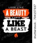 gym inspiring creative... | Shutterstock .eps vector #704157337