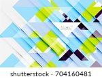 triangle pattern design... | Shutterstock .eps vector #704160481