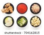 the korean traditional food... | Shutterstock . vector #704162815