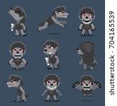 halloween character big head... | Shutterstock .eps vector #704165539