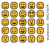 set of emojie. set of emoticons.... | Shutterstock .eps vector #704173279