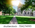 lund  a small old town in... | Shutterstock . vector #704174995