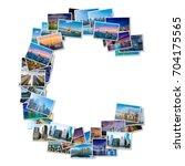 english alphabet letter made of ... | Shutterstock . vector #704175565