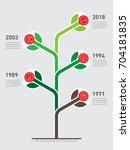 vertical timeline infographics. ... | Shutterstock .eps vector #704181835