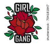 girl gang   fashion badge or... | Shutterstock .eps vector #704181847