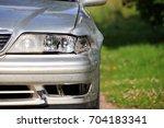 damaged car. car accident | Shutterstock . vector #704183341