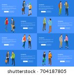 students banners collection... | Shutterstock .eps vector #704187805