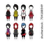 sport characters vector set... | Shutterstock .eps vector #704188549