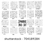 mega set of doodles vector.... | Shutterstock .eps vector #704189284