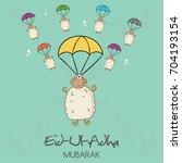 muslim holiday eid al adha. eid ...   Shutterstock .eps vector #704193154