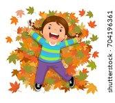 vector illustration of cute... | Shutterstock .eps vector #704196361