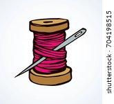 wooden sheave of vibrant... | Shutterstock .eps vector #704198515
