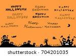 halloween night background | Shutterstock .eps vector #704201035