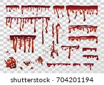 blood realistic dripping drops  ... | Shutterstock .eps vector #704201194