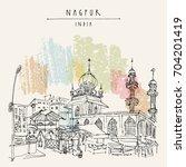 nagpur  maharashtra  india.... | Shutterstock .eps vector #704201419