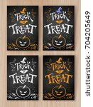 trick or treat halloween... | Shutterstock .eps vector #704205649