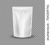blank foil food or drink bag...   Shutterstock .eps vector #704209741