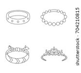 accessories vector icons | Shutterstock .eps vector #704210815