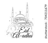 illustration of eid al adha... | Shutterstock . vector #704211679