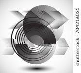 minimalistic creative concept . ... | Shutterstock .eps vector #704216035