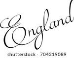 england text sign illutration... | Shutterstock .eps vector #704219089
