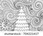 line art design of storm... | Shutterstock .eps vector #704221417