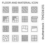 vector line icon of floor and... | Shutterstock .eps vector #704226151