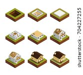 isometric concept of building a ... | Shutterstock .eps vector #704227255