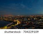 urban night skyline dhaka ... | Shutterstock . vector #704229109