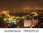 urban night skyline dhaka ... | Shutterstock . vector #704229115