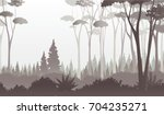 Misty Dark Forest Illustration...