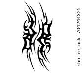 tribal tattoo art designs.... | Shutterstock .eps vector #704244325