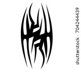 tattoo tribal vector designs. | Shutterstock .eps vector #704244439