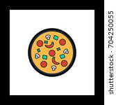 pizza colorful icon on white...