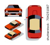vector flat style cars in... | Shutterstock .eps vector #704251087