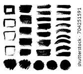 ink black art brushes vector... | Shutterstock .eps vector #704251591