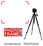 silhouette of a specular camera ... | Shutterstock .eps vector #704251654