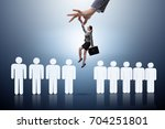 recruitment concept with hand... | Shutterstock . vector #704251801