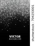 falling glitter confetti.... | Shutterstock .eps vector #704253001