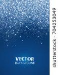 falling glitter confetti  snow. ... | Shutterstock .eps vector #704253049