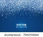 Falling Glitter Confetti  Snow. ...