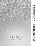 falling glitter confetti.... | Shutterstock .eps vector #704253091