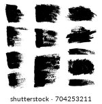 set of grunge brush strokes... | Shutterstock .eps vector #704253211