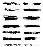 set of grunge brush strokes... | Shutterstock .eps vector #704253217