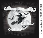 modern scary and creepy paper... | Shutterstock .eps vector #704255881