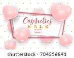 cosmetics sale web banner ... | Shutterstock .eps vector #704256841