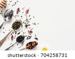 variety of dried tea  dried...   Shutterstock . vector #704258731