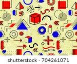 geometric memphis pattern for...   Shutterstock . vector #704261071