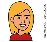 beautiful woman avatar character | Shutterstock .eps vector #704265295
